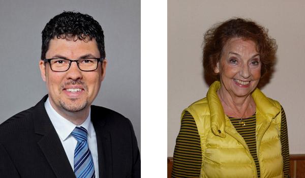 Bürgermeister Jörg Bukowski und die Vorsitzende Hannelore Gräser
